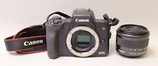 CANON EOS M50 24.1MP MIRRORLESS DIGITAL CAMERA W/ EXTRAS