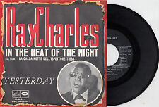 RAY CHARLES YESTERDAY BEATLES / IN THE HEAT OF THE... RARE RECORD  ITALY 7' PS