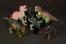 Dinosaurs - lot of 5: Tyrannosaur, Ceratosaur, Iguanadon, Stegasaur, Chasmosaur