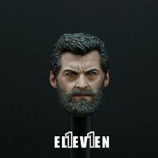 in-stock Eleven 1/6 Scale Logan Head Sculpt For Hot Toys Wolverine Figure Body