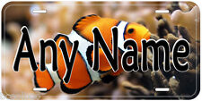 Clownfish Aluminum Any Name Personalized Novelty Car Auto Tag License Plate