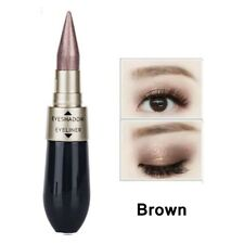 2in1 Double-end Waterproof Liquid Eyeshadow Eyeliner Combination Makeup Cosmetic Brown