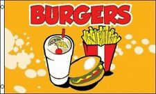 3x5 Advertising Burgers Drink & Fries YelLow Flag 3'x5' Banner Brass Grommets