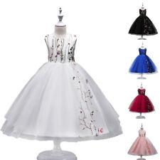Girls Tutu Dress Kid Princess Dresses Gown Xmas Party Bridesmaid Pageant Dresses