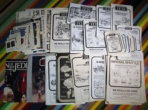 vtg 1980s ROTJ Star Wars ephemera - toy instruction manuals, stickers, insert