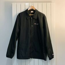 Champion Reverse Weave Script Logo Coach Jacket – Black – XL