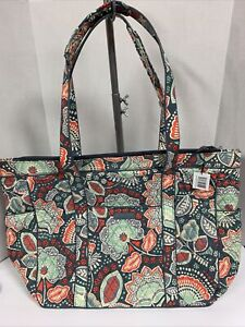 """Vera Bradley Nomadic Floral Get Carried Away Travel Tote 14""""H x 23""""W x 7.5""""D NWT"""