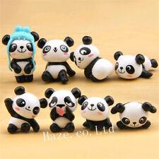 8pcs/Set Cute Animal Panda Figure Model Toy Decoration Doll