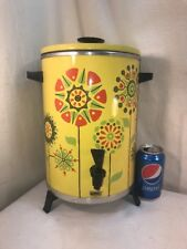 Vtg 60-70's Hippie Retro Flower Child WEST BEND 30 Cup Percolating Coffee Maker