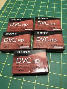 Pack of 5 Sony DVC HD Cassettes - 85 Min (Mini DV) #DVM85HDR BRAND NEW!!!