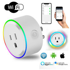 Mini Smart Wifi Plug Socket Outlet RGB Light Works With Alexa Google Home IFTTT
