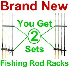New listing New! 2 Fishing Rod Racks,Rod & Reel Storage Holder/Rack,Wall/Ceiling Mount