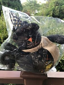New in the Bag Halloween Black Cat Pillow