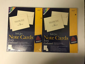 Avery Ivory Embossed #8317 Note Cards With Envelopes 60 Sets Lot Of 2