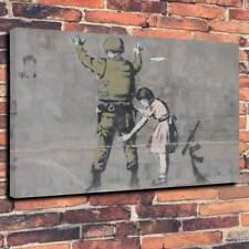 "Banksy ricerca Scatola stampata foto su tela A1.30""x20 ""Deep 30 mm TELAIO graffiti arte"
