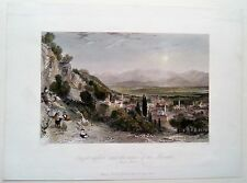 GÜZELHISAR AYDIN TURQUIE, TURKEY, THOMAS ALLOM, GRAVURE 1838