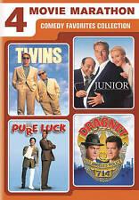 4-Movie Marathon: Comedy Favorites DVD Twins/Junior/Pure Luck/Dragnet