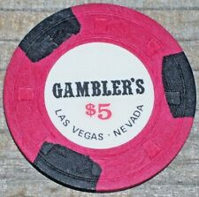 $5 1ST EDITION 1974 GAMING CHIP FROM THE GAMBLER'S CASINO LAS VEGAS