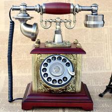 Vintage Telephone Retro Phone Rotary Antique Dial Handset Corded Desk Home Phone