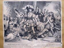 Lithographie de Gosselin, Fernand Cortès renverse le paganisme, vers 1840
