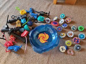 Huge Beyblades Bundle Arena Spin Spare Tomy Game Play Bayblades Spinning