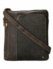 Visconti Brown Distressed Leather Messenger Bag Ideal for iPad or Tablet Case