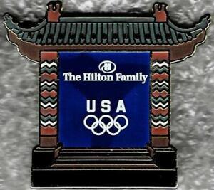 2008 Beijing The Hilton Family USA Olympic NOC Sponsor Pin
