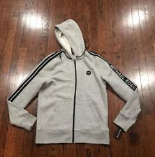 NWT$98 Mens Michael Kors Full Zip Big Logo Hoodie Size Medium Gray