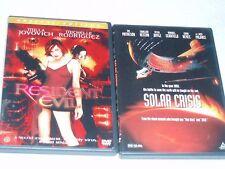 Lot Of 2 DVD Movies 1999 Solar Crisis (PG-13) 2002 Resident Evil (R) EC