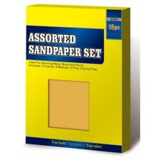 New 18 Assorted Sand Paper Sheets Fine Medium Home Coarse Wet Dry Use Sandpaper
