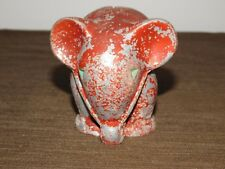 "VINTAGE 3 1/2"" HIGH METAL ELEPHANT COIN BANK"