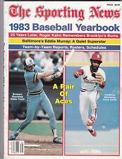 1983 Sporting News Baseball Yearbook Magazine W/Robin Yount & Ozzie Smith Cover