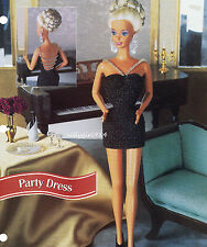 """Party Dress""~Crochet Pattern~Pattern Only fits Barbie Fashion Doll"
