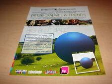 PETER GABRIEL - !!!!BIG BLUE BALL!!! PUBLICITE / ADVERT