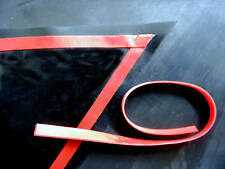 Latex Rubber Trim Strips 0.50mm Thick, 5mm x200cm, Red, Two