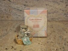 Calico Kittens - Always Thinking of You - Kitten Sitting in a Basket Figurine