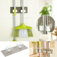Kitchen Wall Mounted Mop Rack Brush Broom Holder Organizer Storage Hanger Rack