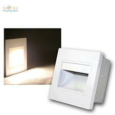 weißer Wandeinbaustrahler COB-LED warmweiß Wandeinbauleuchte Treppenbeleuchtung