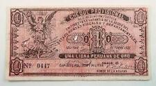 Peru 1921 Cervaneros - Iquitos Cheque Provisional One / 1 Libra Note