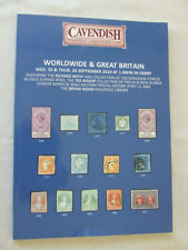 Cavendish Stamp Auction Catalogue - Worldwide & Great Britain - Sept 2019