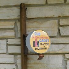 International Harvester Ih Cub Cadet mower logo emblem miniature wall post Sign