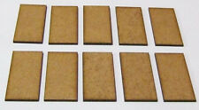2mm MDF bases 50mm x 25mm pack of 10 for Black Powder or Hail Caesar