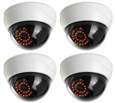 4 Pack Fake Security Camera CCTV Fake Dome Camera for Homes & Business Durable