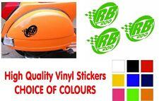 Lambretta Stickers RB200 Sticker SX GP TV LI Scooter Stickers 3 x Stickers Black