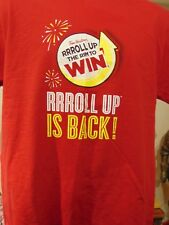 TIM HORTON'S COFFEE Roll up the Rim 2 Two Sided STAFF T Shirt L