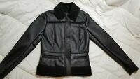 Ann Taylor NWT Black Faux Leather/Fur - XS - (see pics!)