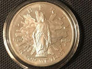 1789-1989 S Congress Bicentennial Liberty Proof Silver 💵 Dollar