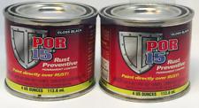 POR-15 45006 2 CANS OF GLOSS BLACK RUST PREVENTIVE COATING 4 OZ CAN (POR-45006)