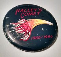 "3.5"" Vintage HALLEYS COMET 1985/1986 3D Button Pin Pinback Badge"