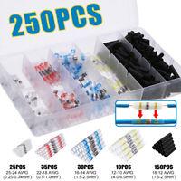 250PCS/Set Mix Solder Sleeve Heat Shrink Butt Waterproof Wire Splice Connector